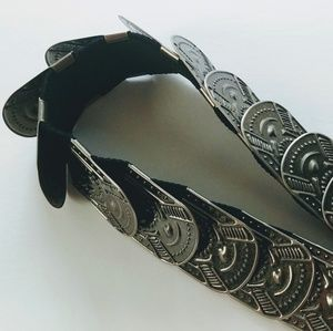 Silver stretch coin belt - tribal aztec gypsy